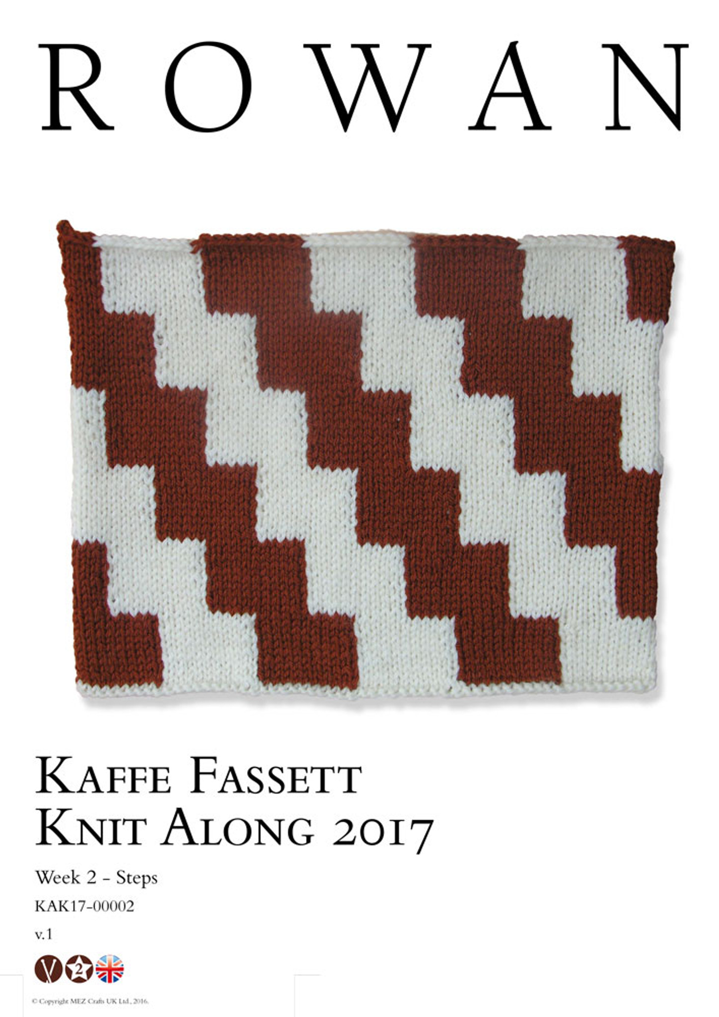 Kaffe Fassett Knit Along - week 2 - Ascending Squares