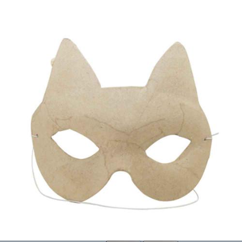 Kids Cat Mask To Decorate | Kraft Card | Decopatch
