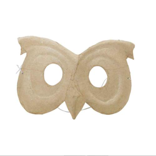 Kids Owl Mask To Decorate | Kraft Card | Decopatch