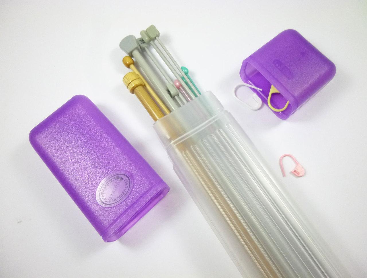 Clover Knitting Needle Tube Case Purple