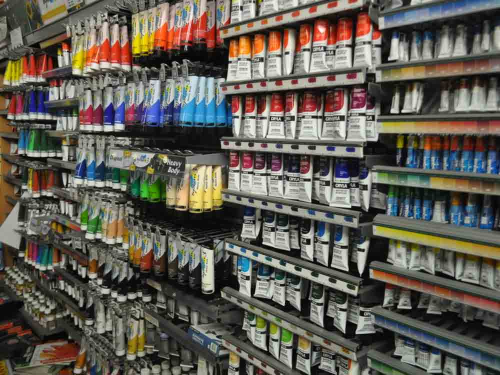 The range of paints we have available