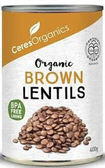 Ceres Organic Brown Lentils 400g