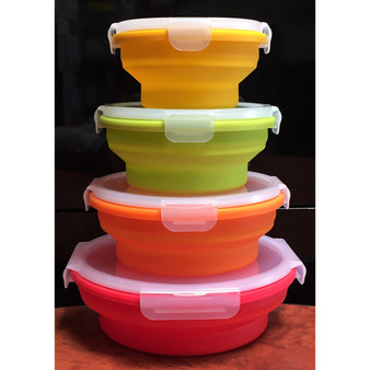 Kuvings Pack & Stack Container - Round - 4 Pack