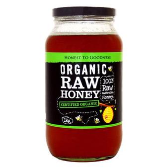 Raw Honey Organic 1kg Jar Honest To Goodness