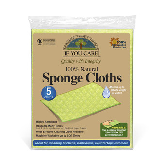 Compostable Sponge Cloths x 5 If You Care