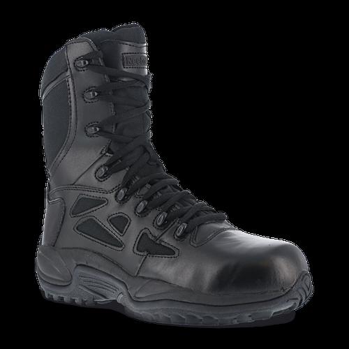 Reebok Work Rb8850 Rapid Response Rb Stealth Comp Toe Mens 8 Side Zip Duty B.