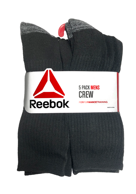 Black Crew Sock - 5 Pack