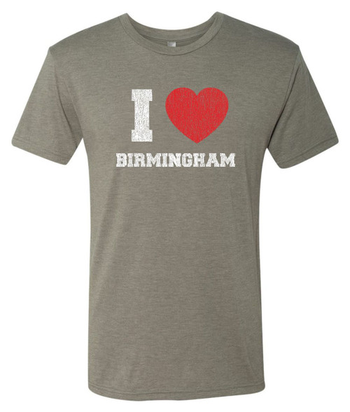 Birmingham Venetian Gray Next Level Unisex Tri-Blend Tee