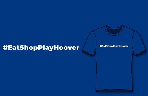 #eatshopplayhoover Royal Blue Color Short Sleeve Shirt