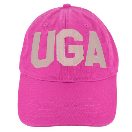 UGA Raspberry Comfort Colors Cap