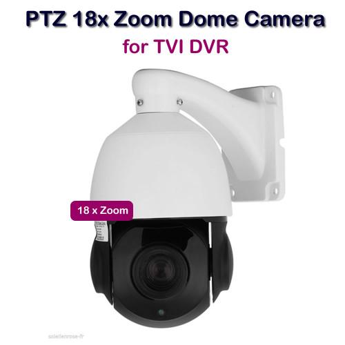 PTZ Dome Camera 18x ZOOM VARIFOCAL 2.4MP BNC