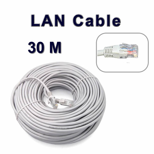 30 M Long Network Ethernet Cable Internet Wire LAN CAT5 Router Quality