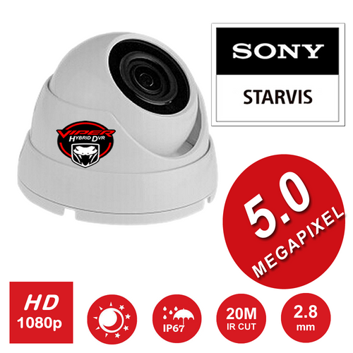 5MP CCTV Dome Camera Sony Starvis  5MP Wide ANGLE Lens Night Vision Hybrid Outdoor  GREY or WHITE