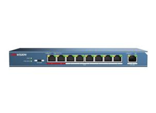 DS-3E0109P-E 8 Port PoE+ 100mbps unmanaged switch with 1 uplink port