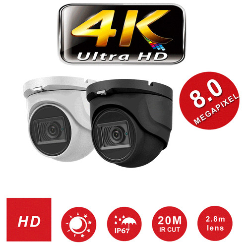 8MP 4K Turret Camera 20METER Viper Pro Manufactured  By Hikvision