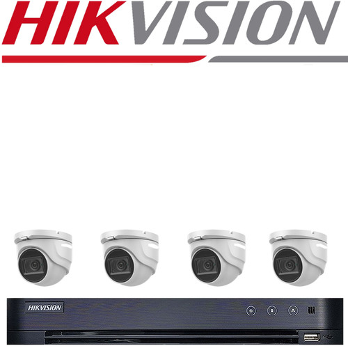 HIKVISION 8MP CCTV SYSTEM DVR DS-7208HUHI-K1 & 4X VIPER PRO 8MP 4K HYBRID 20M IR CAMERA