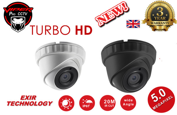 VIPER PRO HD 5MP CCTV CAMERA TURBO HD 2.8MM WHITE OR GREY