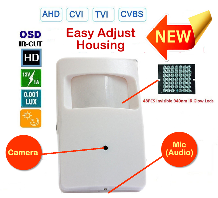PIR Spy Hidden Camera with nightvision and audio