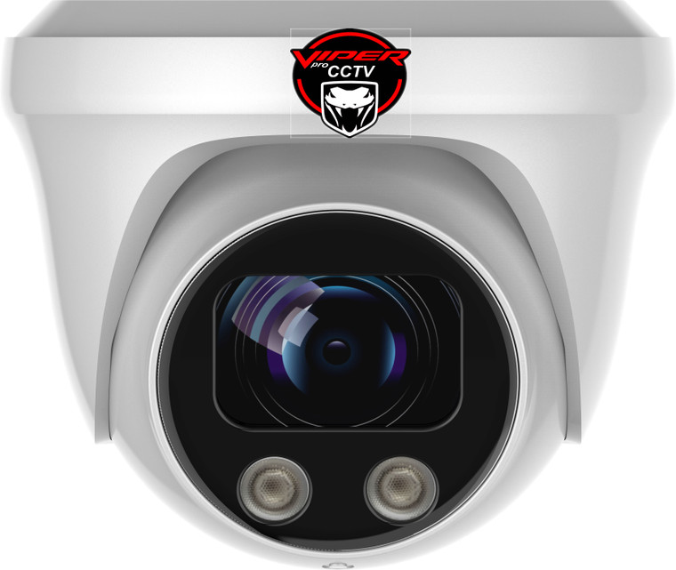 Viper Pro - CCTV Dome Camera 8MP  Sony Starvis Fixed Lens Night Vision for HD TVI CVI AHD Analogue DVR Outdoor