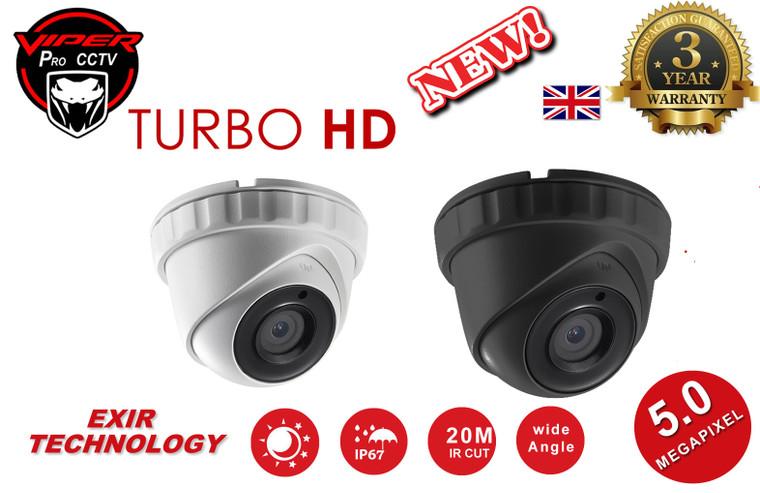 VIPER PRO HD 5MP CCTV CAMERA TURBO HD 2.8MM WHITE OR GREY