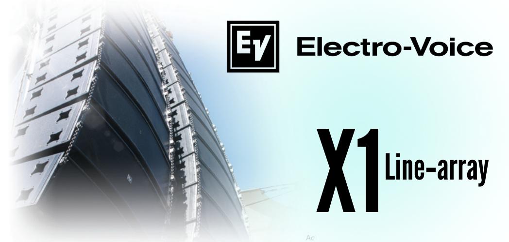 Sistema Line Array Electrovoice X1 - Elegante y versatil