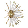 Shown in Small Modern Brass with Clear Acrylic Rods