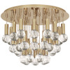 Shown in Polished Brass with Crystal Accents