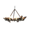 Shown in Large Antique Bronze with Antique Bronze Hardware