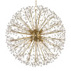 Shown in 10 Light Aged Brass with Clear Crystal Shade
