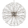Shown in 10 Light Polished Nickel with Clear Crystal Shade