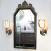 Siemon & Salazar Clear Barnacle Elbow Sconce Round Backplate