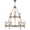 Classic Two-Tier Ring Chandelier