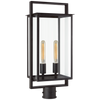 Visual Comfort S7191 Halle Medium Post Lantern Aged Iron