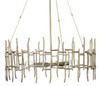 Ulysses Chandelier in Champagne Leaf Metal