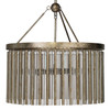 Andromeda Chandelier in Champagne Leaf Metal & Glass Tubes