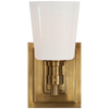 Hand-Rubbed Antique Brass with White Glass