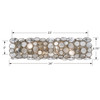 Crystorama Palla 4 Light Antique Silver Vanity Light