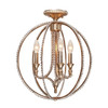 Crystorama Garland 3 Light Sphere Semi-Flush