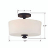 Crystorama Travis 2 Light Ceiling Mount