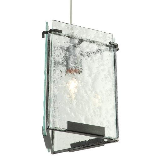 Shown in Rainy Night with Recycled Hand-Pressed Glass Shade
