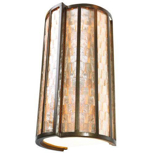 Shown in New Bronze with Sustainable Towers of Natural Capiz Shade