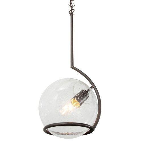 Shown in Metallic Bronze with Recycled Clear Seedy glass Shade