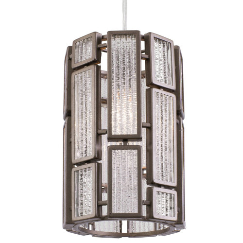 Shown in New Bronze with Recycled Ice Glass, Frosted Acrylic Shade