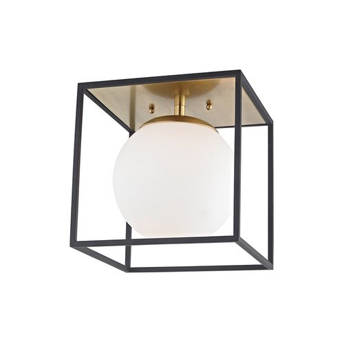 Shown in Small Aged Brass/Black with Black Shade