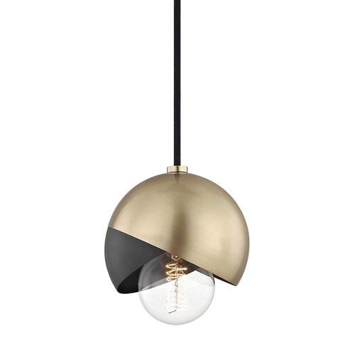 Shown in Aged Brass/Black with Black Shade