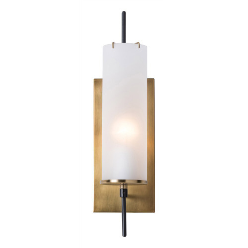Shown in Frosted Glass/ Antique Brass/ Bronze