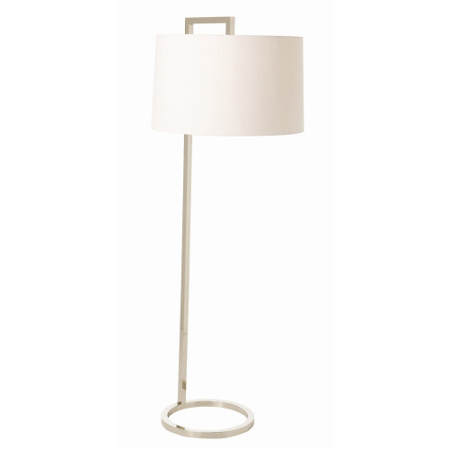 Shown in Polished Nickel with Off-White Linen Shade/Lining to Match Shade