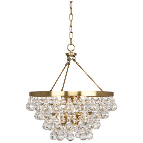 Shown in Antique Brass with Glass Drops Shade
