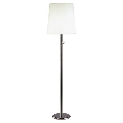 Shown in Polished Nickel with Fondine Fabric Shade