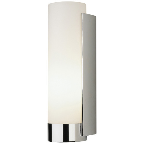 Shown in Polished Chrome with White Frosted Glass Shade